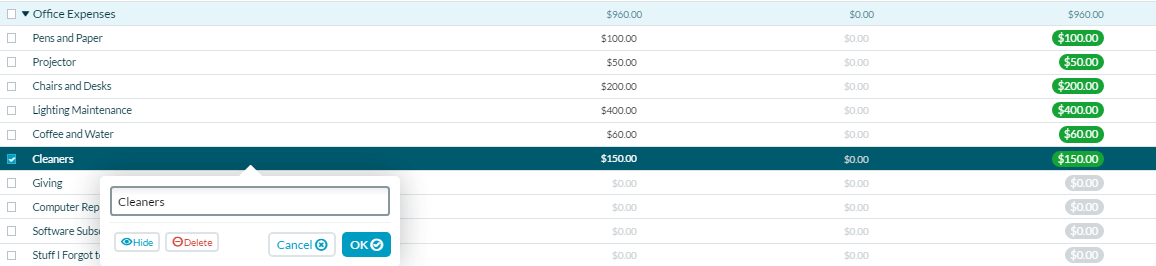 YNAB Review - Changing Names