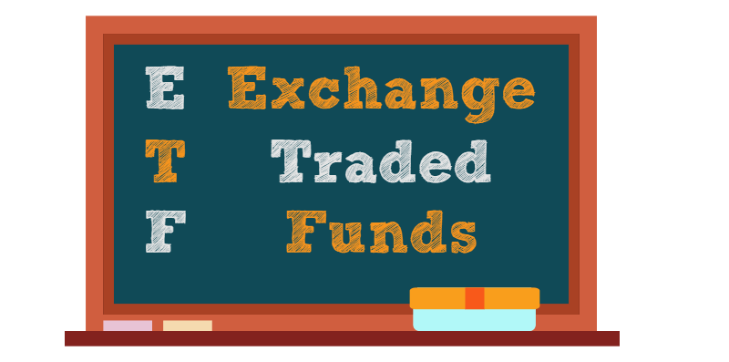 Exchange Traded Funds Stocktrades Chalkboard