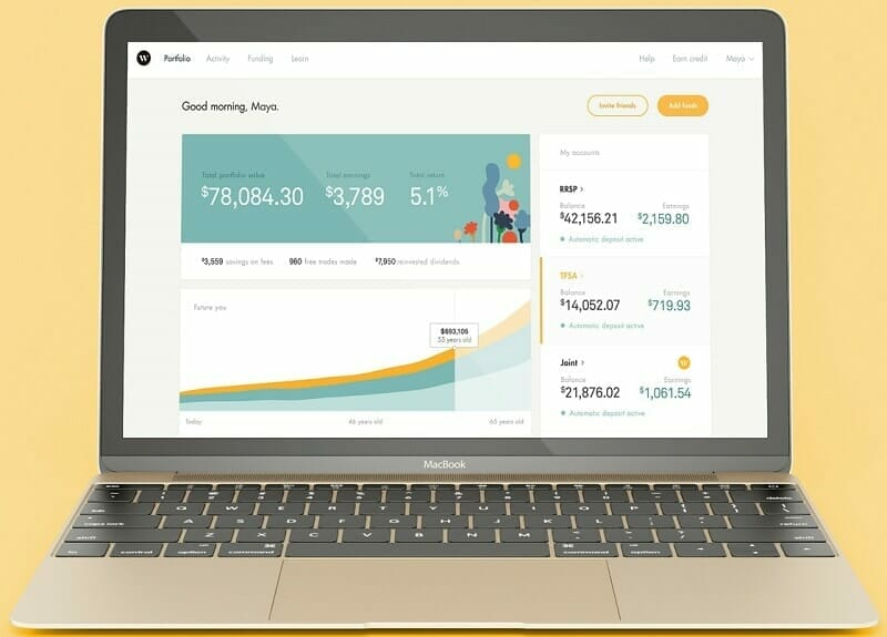 Wealthsimple Review 2018 Dashboard