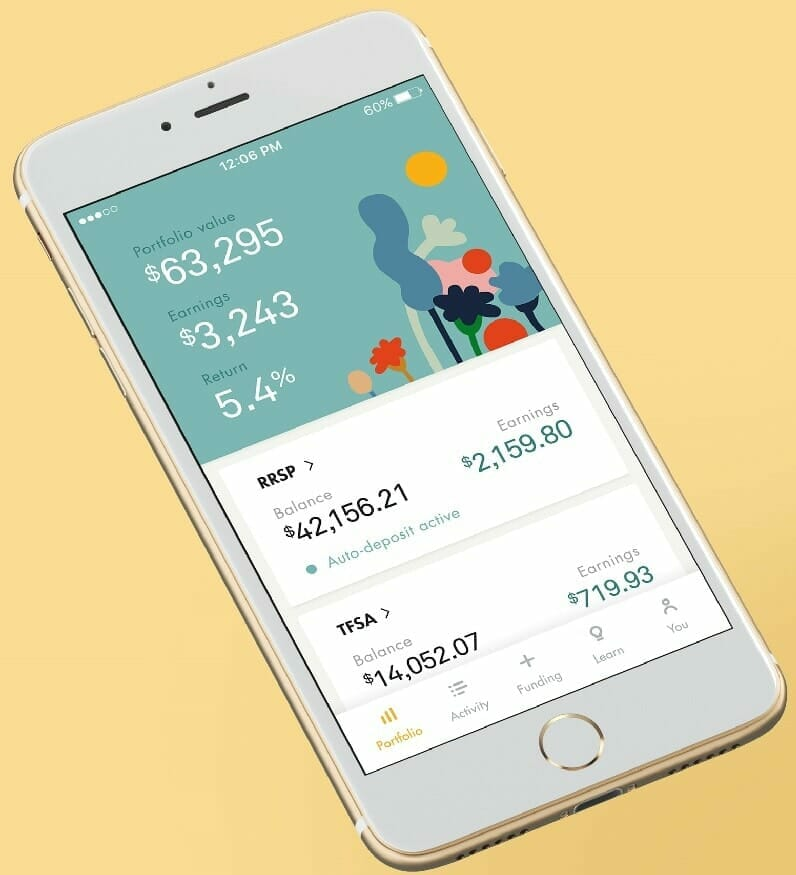 Wealthsimple Review 2018 - Mobile Dashboard