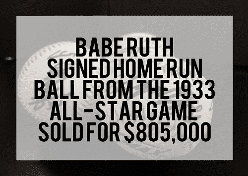 Learn how to invest money - Buy sports memorabilia