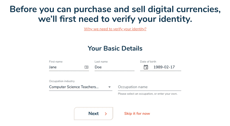 Bitbuy Personal information gathered