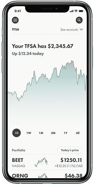 Wealthsimple Trade App Mobile